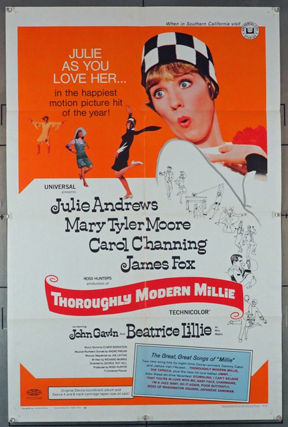 THOROUGHLY MODERN MILLIE (1967) 15549 Universal PIctures Original U.S. One-Sheet Poster (27x41) Folded  Very Good Plus to Fine Condition