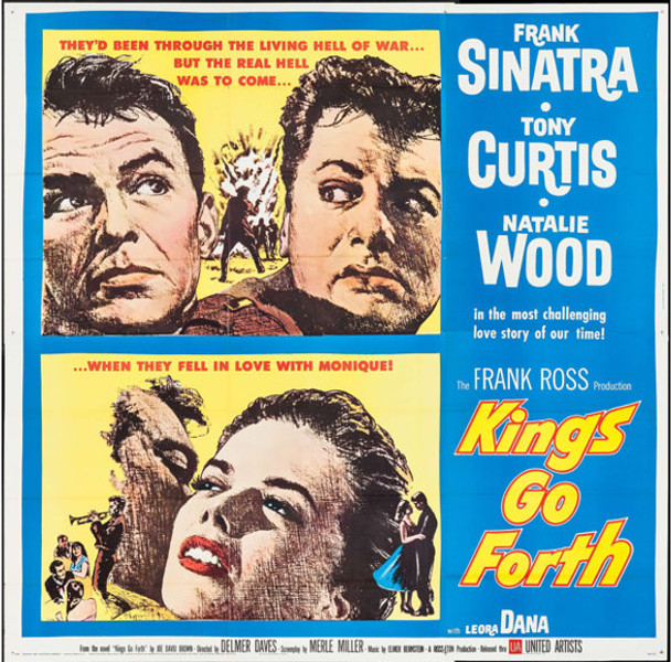 KINGS GO FORTH (1958) 29040 United Artists Original U.S. Six Sheet Poster (81x81) Folded  Very Fine Condition