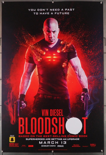 BLOODSHOT (2020) 29054   Vin Diesel Movie Poster Sony Pictures Entertainment Original U.S. One-Sheet Poster (27x40) Rolled  Fine Plus Condition