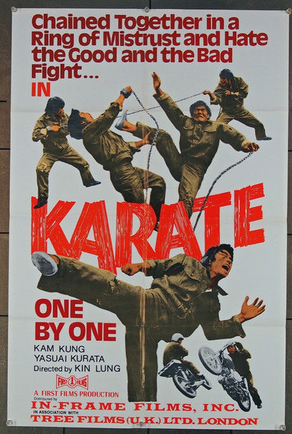 KARATE ONE BY ONE (1973) 27453 In-Frame Films Original U.S. 22x34 Poster  Folded  Very Good Plus