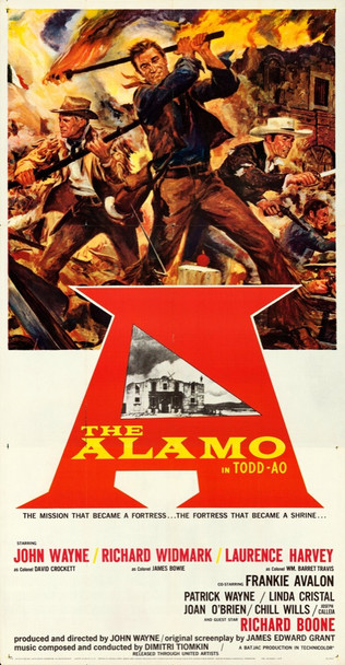 ALAMO, THE (1960) 29055  Todd AO Roadshow Three-Sheet Poster United Artists Original Roadshow Three-Sheet Poster (41x79) Folded  Very Fine
