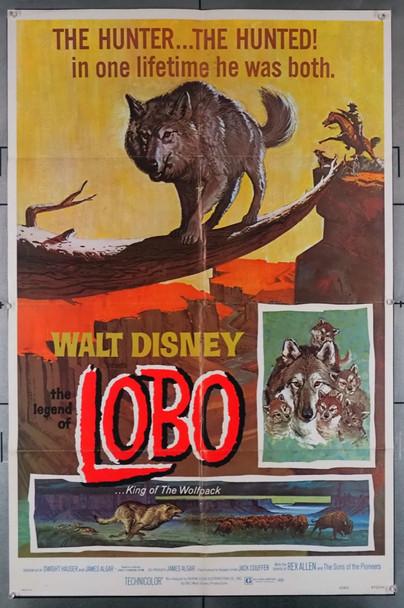 LEGEND OF LOBO, THE (1962) 29059   Disney Company Movie Poster Walt Disney Company Original One-Sheet Poster (27x41) Folded  Re-release of 1972