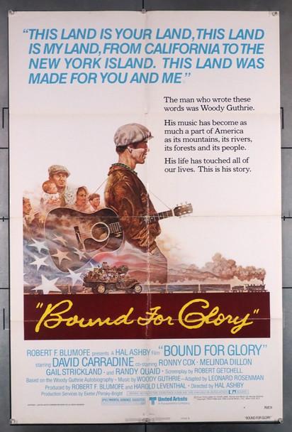 BOUND FOR GLORY (1976) 1191  David Carradine Movie Poster Original U.S. One-Sheet Movie Poster (27x41) Folded  Fine Condition