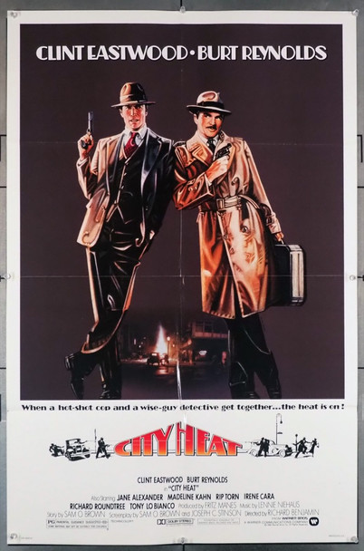 CITY HEAT (1984) 1209  Clint Eastwood  Burt Reynolds Movie Poster Warner Brothers Original U.S. One-Sheet Poster (27x41) Folded  Fine Plus Condition