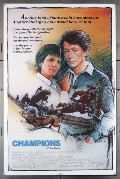CHAMPIONS (1984) 1203   John Hurt as Bob Champion  Movie Poster UBA Original U.S. One-Sheet Poster (27x41) Folded  Very Fine Condition