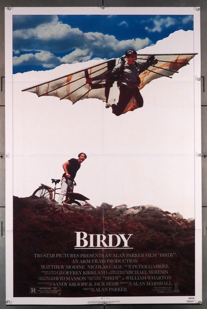 BIRDY (1984) 1179   Matthew Modine  Nicholas Cage  Movie Poster Original U.S. One Sheet Poster (27x41) Folded  Very Fine Condition