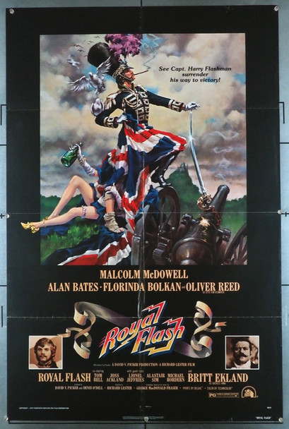 ROYAL FLASH (1975) 4788   MALCOLM MCDOWELL  Movie Poster  Art by John Alvin 20th Century Fox Original U.S. One-Sheet Poster (27x41) Folded  Fine Theater-Used Condition