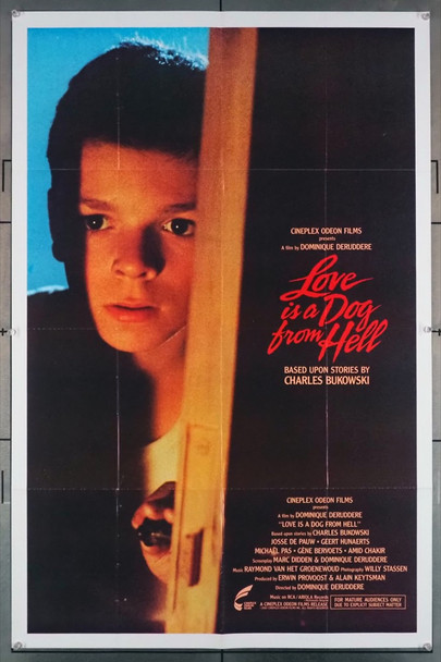 LOVE IS A DOG FROM HELL (1987) 1651  Original U.S. Movie Poster Original U.S. One-Sheet Poster (27x41) Folded  Very Good Condition