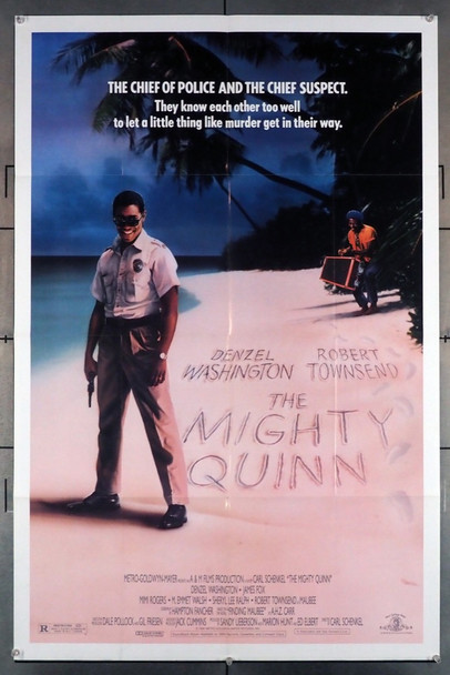 MIGHTY QUINN, THE (1989) 1650 Original U.S. One-Sheet Poster (27x41) Folded  Very Good Plus to Condition