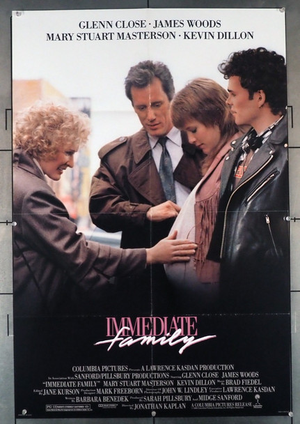 IMMEDIATE FAMILY (1989) 1642  Original U.S. Movie Poster 27x41 Columbia Pictures Original U.S. One Sheet Poster (27x41) Folded  Very Fine Condition