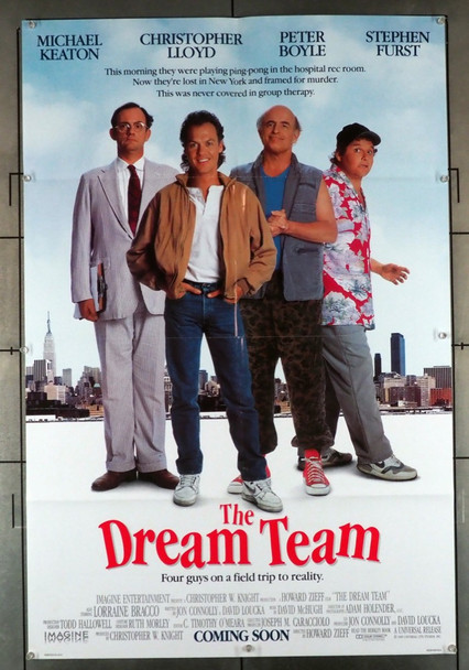 DREAM TEAM, THE (1989) 1637   Universal PIctures Original U.S. One-Sheet Poster (27x41) Folded  Double Sided  Fine Plus Condition