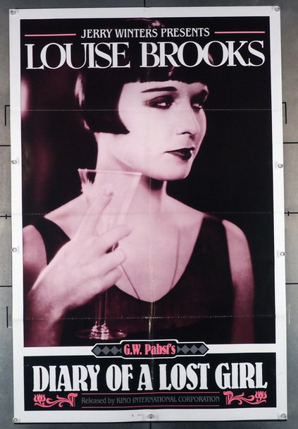 DIARY OF A LOST GIRL (1929) 1628  Louise Brooks Movie Poster Kino International One-Sheet Poster  Re-release of 1985  Folded  Fine Plus Condition