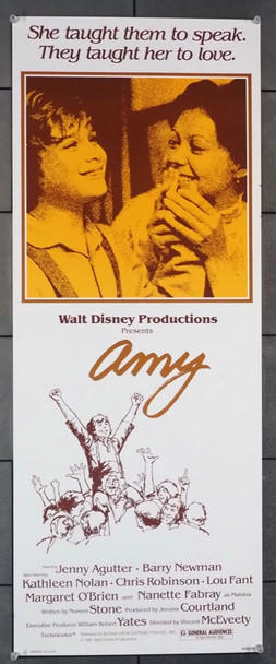 AMY (1981) 12381   Jenny Agutter Movie Poster Buena Vista Pictures Original U.S. Insert Poster (14x36) Rolled