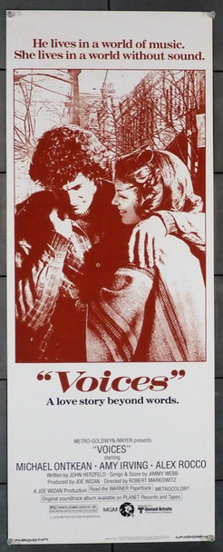 VOICES (1979) 12386 Original U.S. insert poster (14x36)  Never folded!  Very Fine Condition