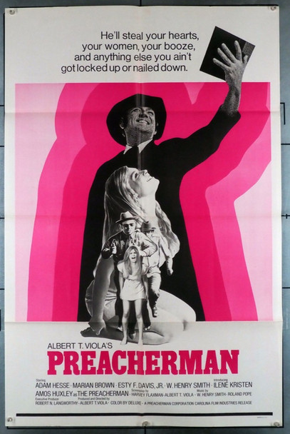 PREACHERMAN (1971) 12001 Original U.S. One-Sheet Poster (27x41)  Folded  Theater-Used  Fine Condition