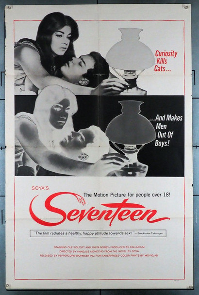 SYTTEN (1965) 11985   Classic Era Adult Poster Peppercorn-Wormser Original U.S. One-Sheet Poster (27x41) Folded  Very Good Condition