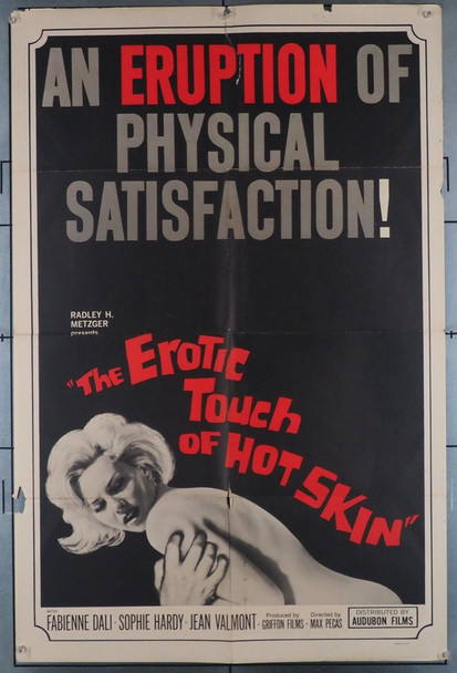 EROTIC TOUCH OF HOT SKIN, THE (1964) 11988   Sexploitation Movie Poster Audobon Pictures Original U.S. One-Sheet Poster (27x41) Folded