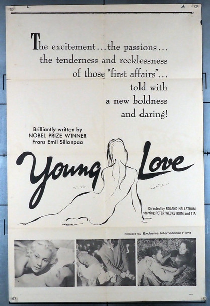 YOUNG LOVE (1955) 11991 (POIKA ELI KESAANSA)  Frans Eemil Sillanpaa FILM POSTER Original U.S. One-Sheet Poster (27x41) Folded Good Condition