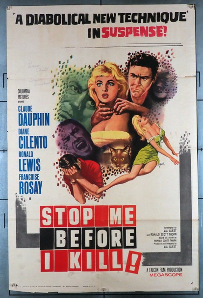 STOP ME BEFORE I KILL! (1961) 12004   Movie Poster U.S. Original One-Sheet Poster (27x41) Folded  Average Used Condition
