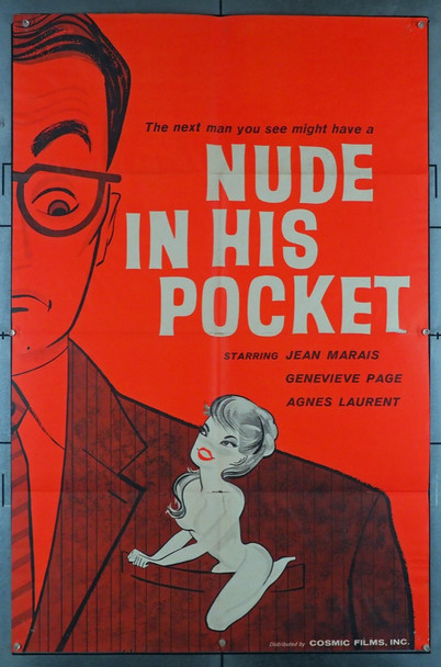 UN AMOUR DE POCHE (1957) 12017   Sexploitation Movie Poster Original U.S. One-Sheet Poster (27x41) Very Good Condition  Theater-Used  Folded