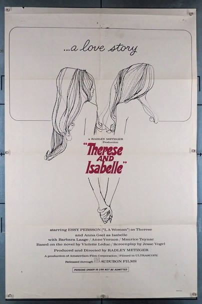 THERESE & ISABELLE (1968) 12012   Radley Metzger Movie Poster Original U.S. One-Sheet Poster (27x41) Folded  Fine Condition  Theater-Used