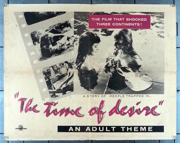 TIME OF DESIRE, THE (1957) 12013   Egil Holmsen Movie Poster Janus Films Original U.S. Half-Sheet Poster  (22x28)  Folded  Good Condition  Average Used