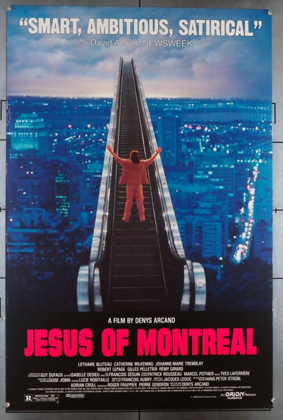 JESUS OF MONTREAL (1990) 3692 Original U.S. One-Sheet Poster (27x41) Rolled  Fine Plus Condition