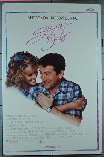 STANLEY & IRIS (1989) 3453   Robert DeNiro   Jane Fonda  Movie Poster MGM Original U.S. One-Sheet Poster (27x41)  Fine Plus Condition
