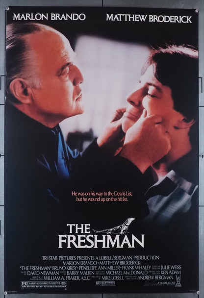 FRESHMAN, THE (1990) 3690   Marlon Brando   Matthew Broderick  Movie Poster Original U.S. One-Sheet Poster (27x41)  Rolled  Very Fine Condition