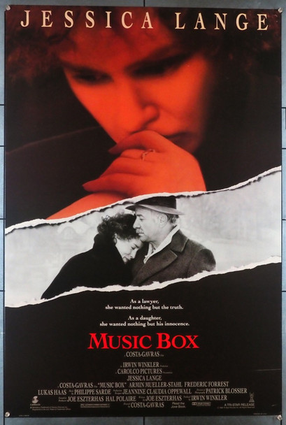 MUSIC BOX (1989) 3471 Original U.S. One-Sheet Poster (27x41)  Rolled  Very Fine Condition