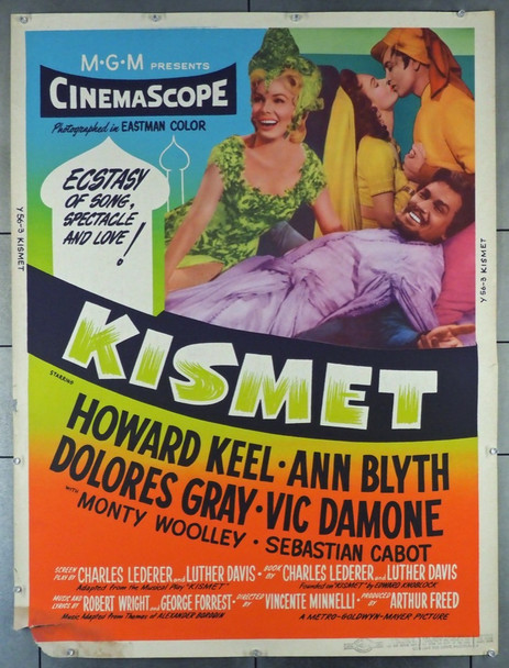KISMET (1955) 6634   MGM Musical Movie Poster Original U.S. 30x40 Poster  Style Y  Rolled