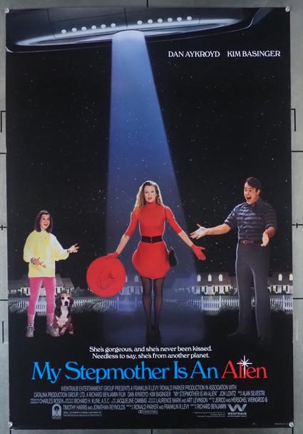 MY STEPMOTHER IS AN ALIEN (1988) 3444  Kim Basinger   Dan Aykroyd  Movie Poster Original U.S. One-Sheet Poster  27x41  Rolled  Fine Plus Condition