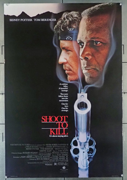 SHOOT TO KILL (1988) 3445   Sidney Poitier   Tom Berenger  Movie Poster Original U.S. One-Sheet Poster (27x41)  Rolled  Fine Plus Condition