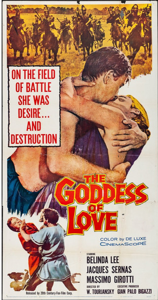 GODDESS OF LOVE, THE (1960) 9835 Original U.S. Three-Sheet Poster (41x81) Folded  Fine Plus Condition  Never Used  Folded