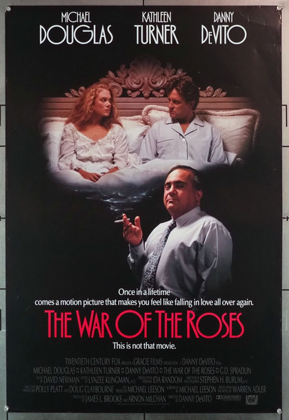 WAR OF THE ROSES, THE (1989) 1658   Michael Douglas   Kathleen Turner  Movie Poster Original U.S. One-Sheet Poster (27x41) Rolled  Fine Plus Condition