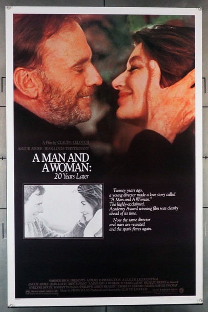 MAN AND A WOMAN:  20 YEARS LATER, A (1986) 654 Original U.S. One-Sheet Poster  (27x41)  Rolled, never folded  Fine Plus Condition