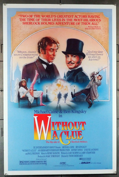 WITHOUT A CLUE (1988) 11606 Original U.S. One-Sheet Poster (27x41)  Rolled  Fine Plus Condition