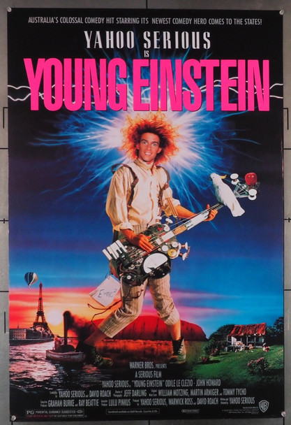 YOUNG EINSTEIN (1989) 643  Yahoo Serious Movie Poster Original U.S. One-Sheet Poster (27x41) Rolled  Fine Plus Condition