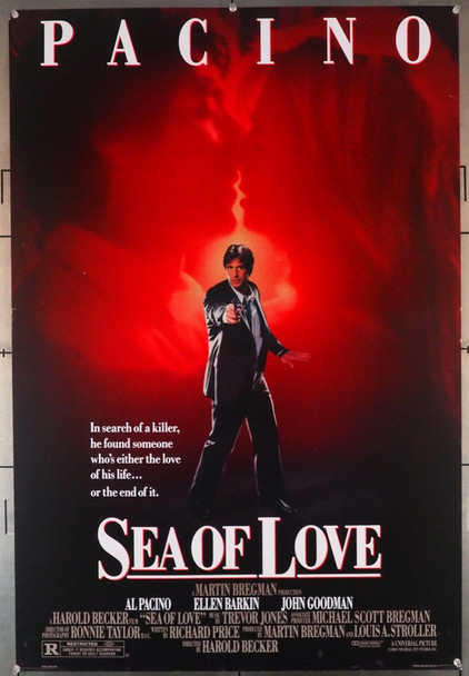 SEA OF LOVE (1989) 3430  Al Pacino Movie Poster   Double-Sided Original U.S. One-Sheet Poster (27x40)  Double Sided  Rolled  Fine Plus Condition