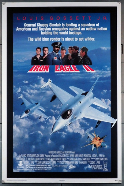 IRON EAGLE II (1988) 611 Original U.S. One-Sheet Poster (27x41)  Rolled  Fine Plus Condition  Theater-Used