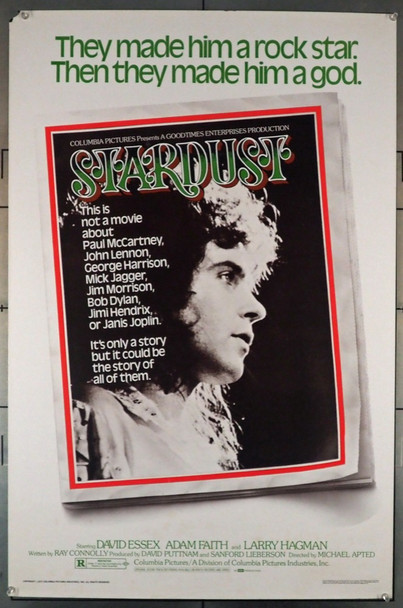 STARDUST (1974) 575    David Essex Movie Poster Original U.S. One-Sheet Poster (27x41)  Rolled  Very Good Plus Condition