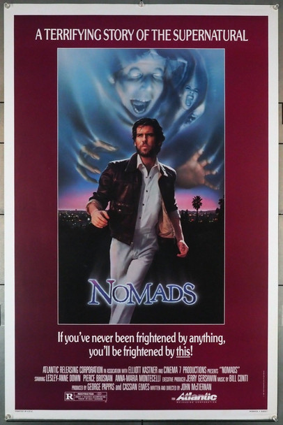 NOMADS (1985) 560   Pierce Brosnan Movie Poster Original U.S. One-Sheet Poster (27x41)  Rolled  Very Fine Condition