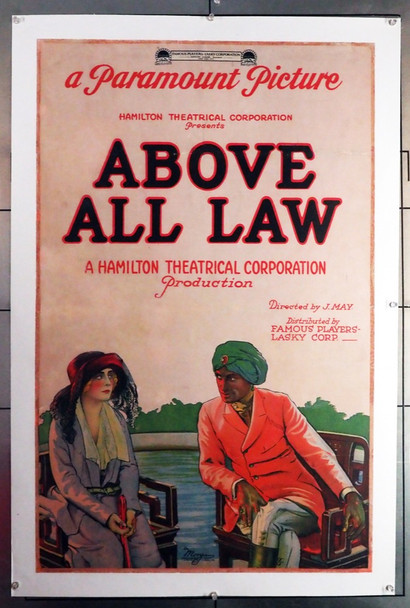 MYSTERIES OF INDIA, PART II: ABOVE ALL LAW (1921) 26026  Conrad Veidt Movie Poster Original U.S. One-Sheet Poster (27x41 trimmed)  Linen Backed  Restored  Very Good Condition