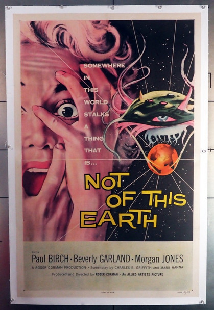 NOT OF THIS EARTH (1957) 28157    Roger Corman Movie Poster Original U.S. One-Sheet Poster (27x41) Linen-Backed  Fine Plus Condition