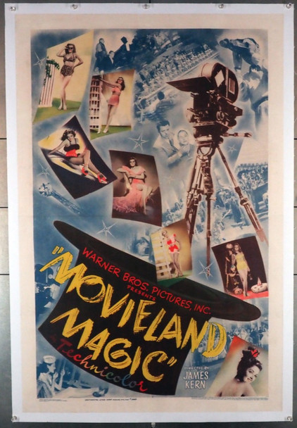 MOVIELAND MAGIC (1946) 28156   Short Subject Movie Poster  Fantastic! Original U.S. One-Sheet Poster (27x41)  Linen Backed  Very Fine