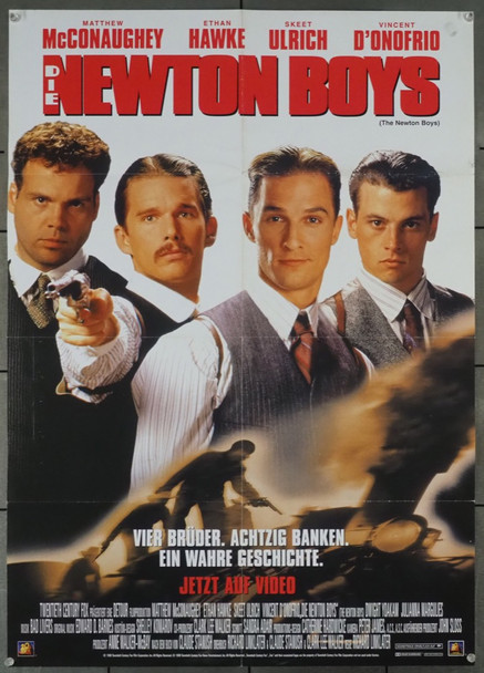 NEWTON BOYS, THE (1998) 19174   GERMAN Video Release Poster German Video Release Poster (22x33) Folded  Fine Plus Condition
