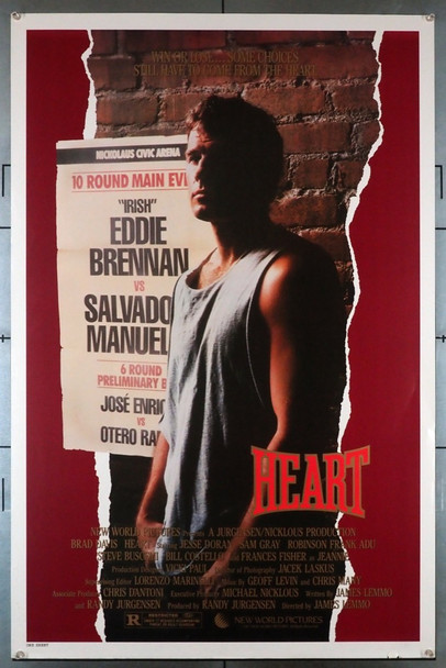 HEART (1987) 543 Original U.S. One-Sheet Poster (27x41) Single Sided  Rolled  Very Good Plus Condition