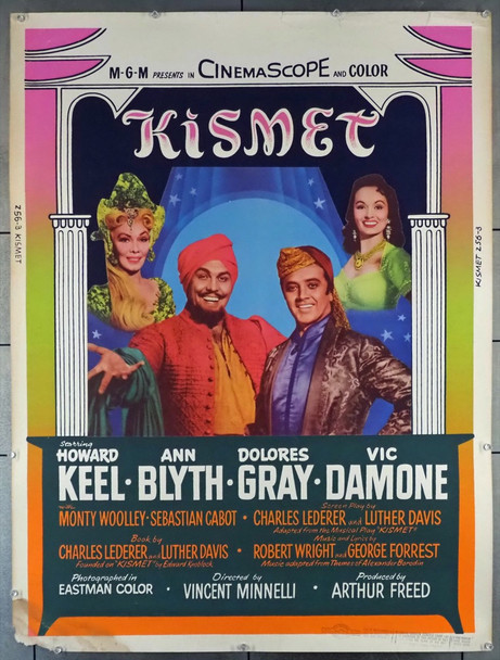 KISMET (1955) 6633  Original MGM 30x40 Movie Poster Original U.S. 30x40 Poster  Rolled  Very Good Condition  Rare!