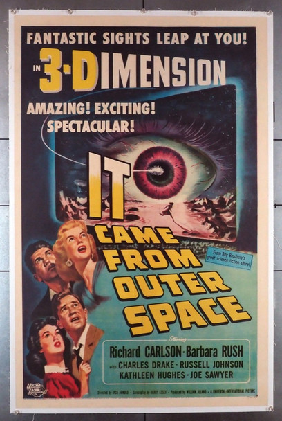 IT CAME FROM OUTER SPACE (1953) 23070  Art by Joe Smith  Classic Sci-Fi Poster Original U.S. One-Sheet Poster (27x41) Linen-Backed  Very Fine Plus Condition  3-D