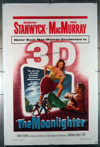 MOONLIGHTER, THE (1953) 20330   Barbara Stanwyck Movie Poster  3D Original U.S. One-Sheet Poster (27x41)  Linen-Backed  Very Fine Condition